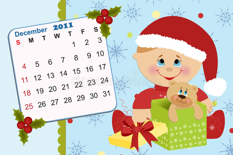 Download Baby's Monthly Calendar For 2011 Stock Vector - Image: 15257941