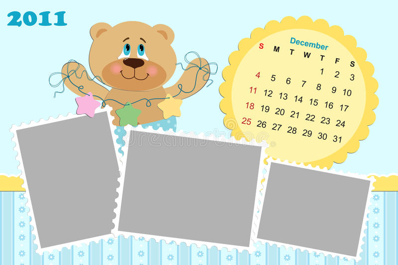 Baby S Monthly Calendar For 2011 Stock Photos