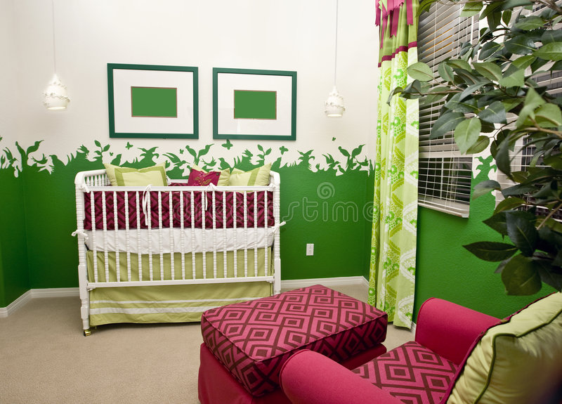 Baby's nursery royalty free stock image