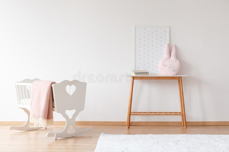 Baby`s room with copy space stock image