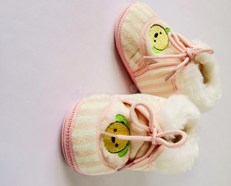 Baby's shoes royalty free stock photos