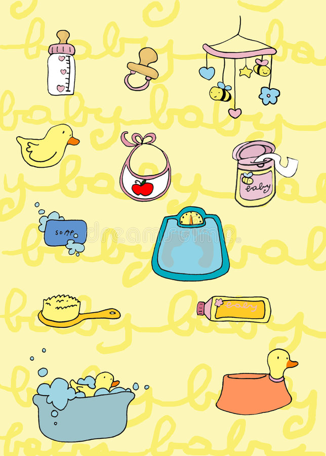Download Baby's things stock illustration. Image of grow, life - 8728957