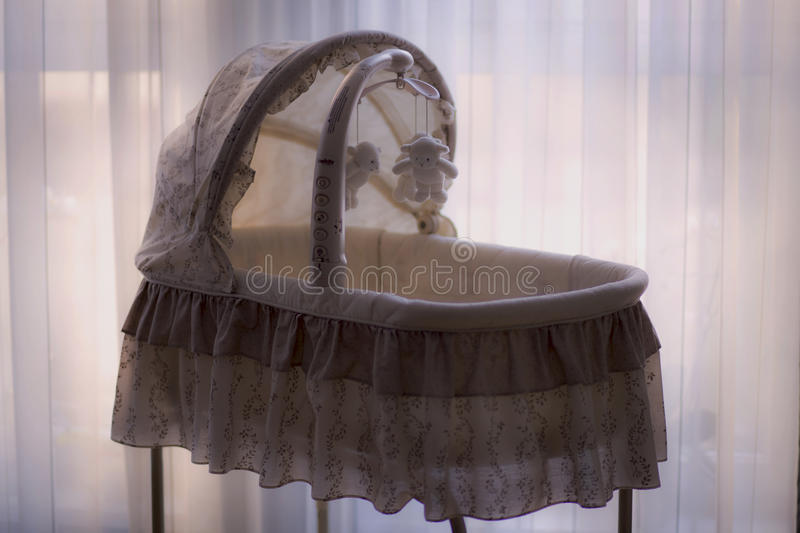 Baby's White And Brown Cradle Free Public Domain Cc0 Image