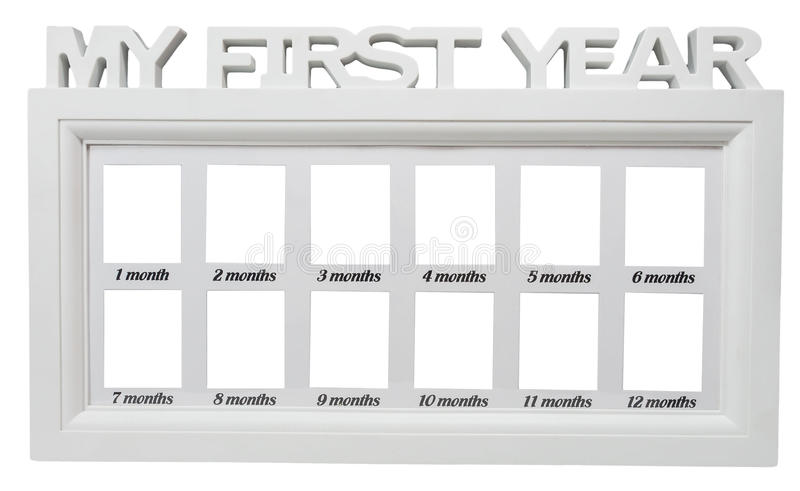 Contemporary Baby Monthly Picture Frame Elaboration - Ideas de ...