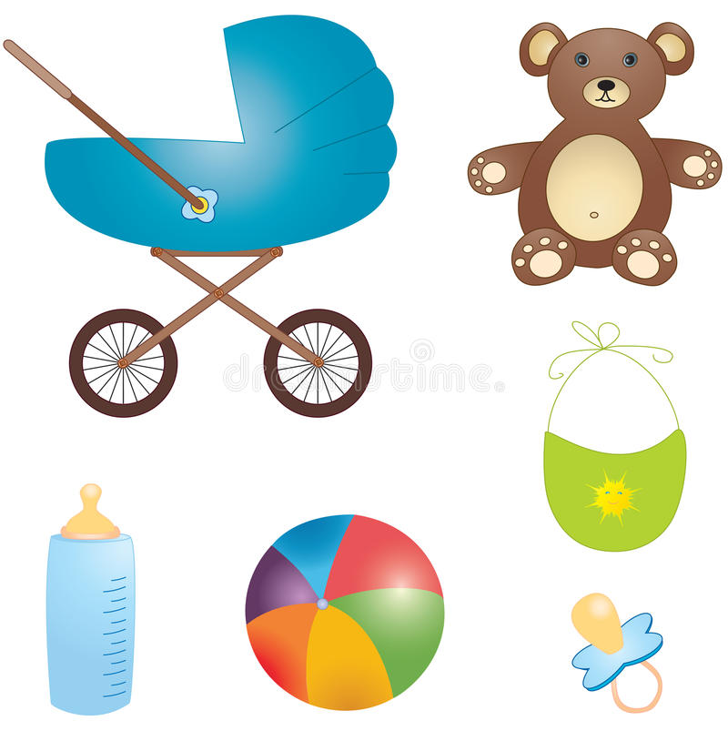 Download Baby's world set stock vector. Image of baby, family - 12288419