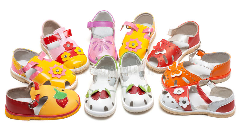 Download Baby Sandals Exposed By Semicircle Stock Photo - Image: 11668430