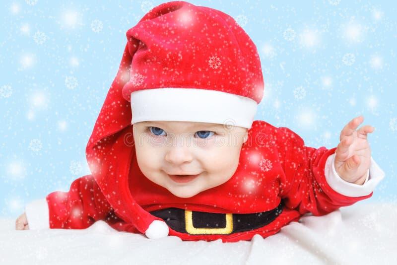 Download Baby Santa Claus stock image. Image of playful, crawling - 35017507
