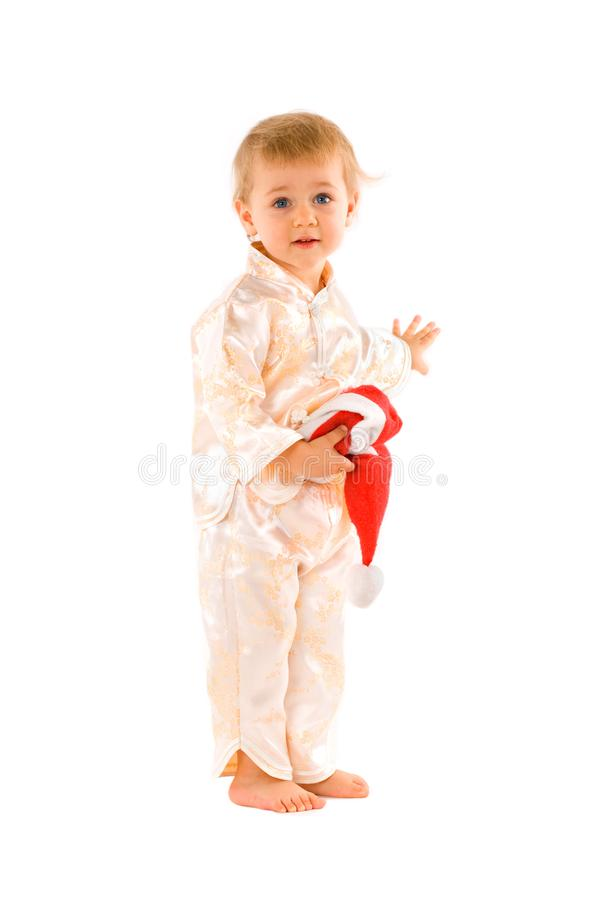 Download Baby With Santa Claus hat stock image. Image of child - 6928951