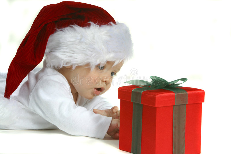 Baby in Santa Hat royalty free stock photography
