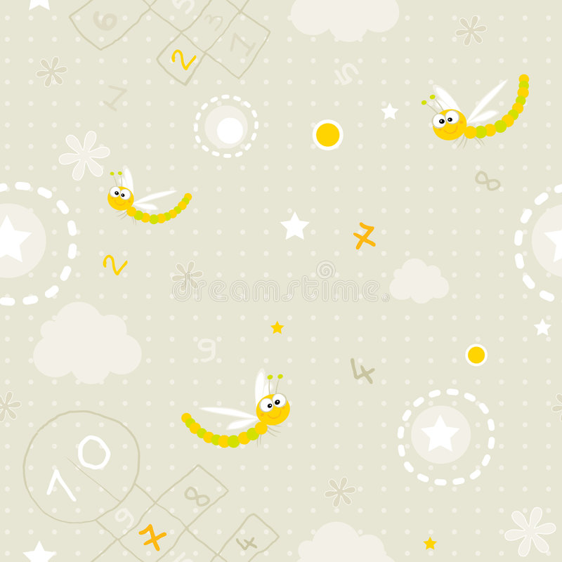 Baby seamless pattern royalty free illustration