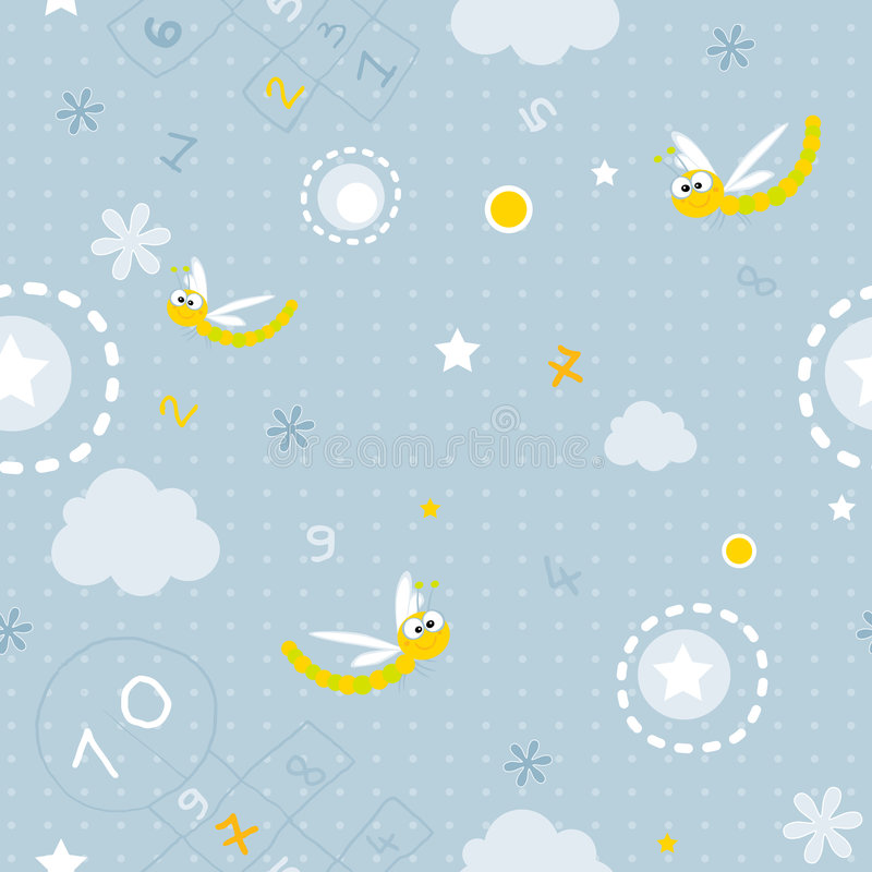 Free Baby Seamless Pattern Royalty Free Stock Photography - 4799077