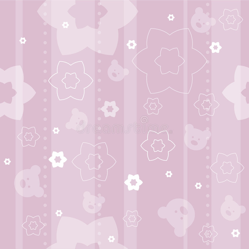 Free Baby Seamless Pattern Royalty Free Stock Photos - 5110088