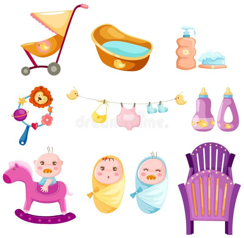 Baby set vector illustration