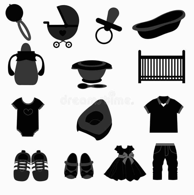 Baby set stock illustration