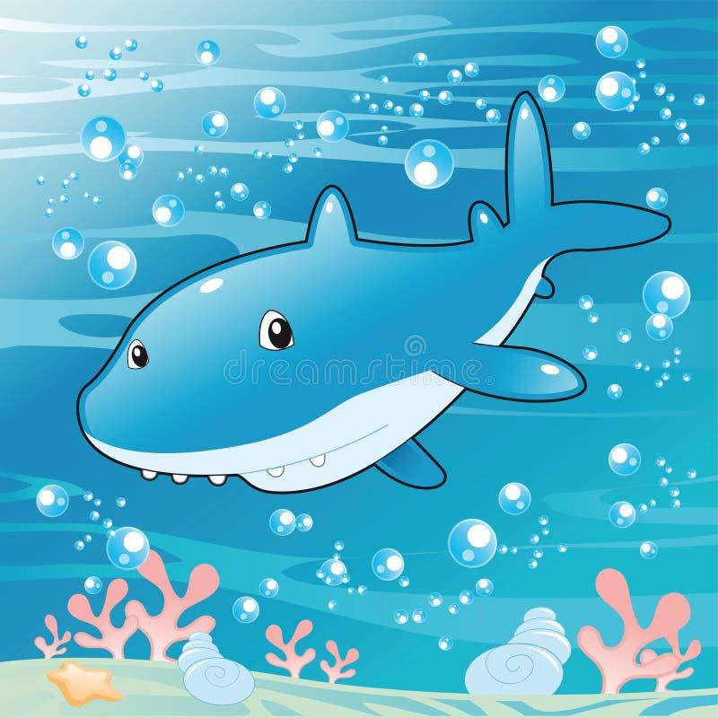 Download Baby Shark stock vector. Illustration of shark, smile - 6831864
