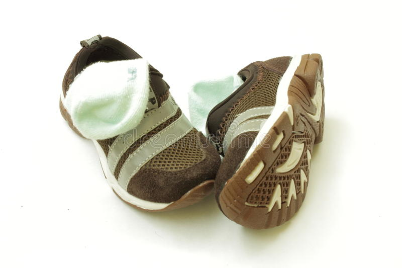 Baby shoe stock photos