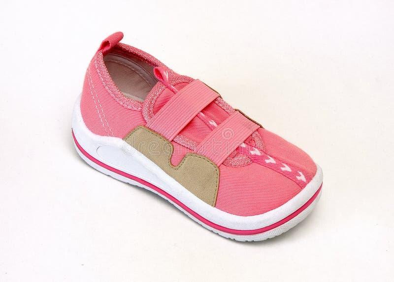 Baby shoe. Isolated at white background stock image