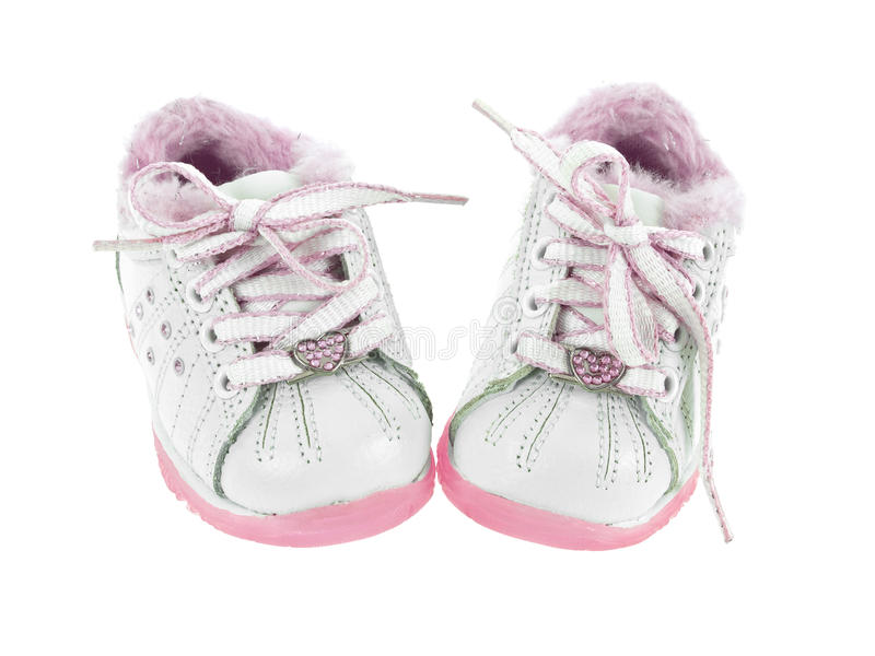 Download Baby shoes stock image. Image of white, pink, laces, children - 11438311