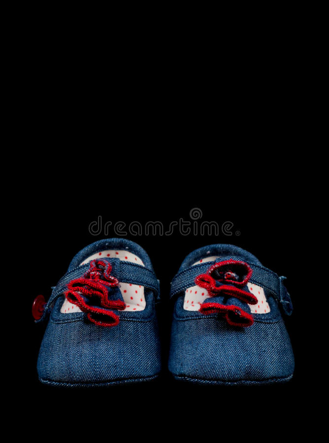 Download Baby Shoes stock image. Image of black, feet, little - 21581241