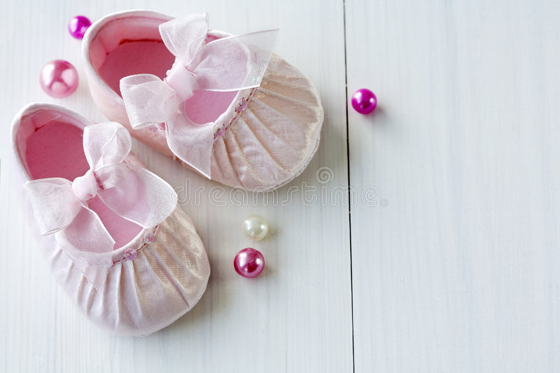 Download Baby shoes stock photo. Image of ribbon, small, children - 7071978