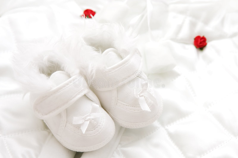 Download Baby shoes stock photo. Image of innocence, silk, softness - 8156194