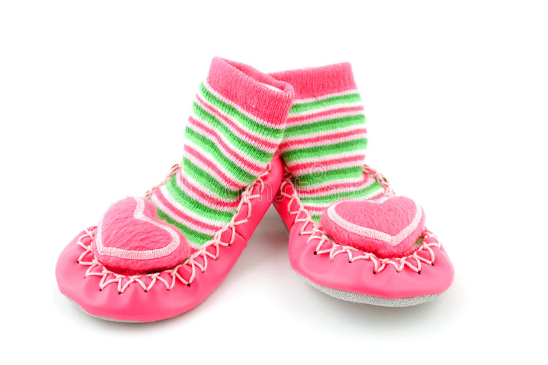 Download Baby shoes stock photo. Image of pink, white, children - 9939200