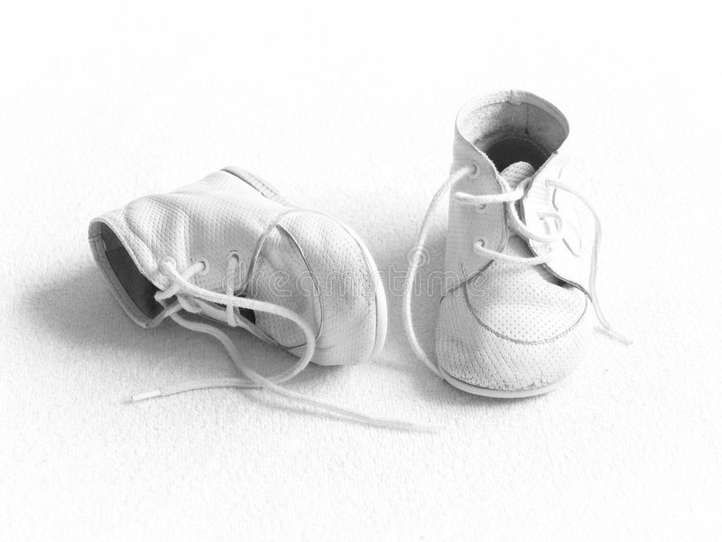 Download Baby shoes - BW stock photo. Image of copy, childish, clothing - 1627490