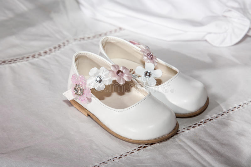 Download Baby shoes stock image. Image of small, flowers, style - 35015557