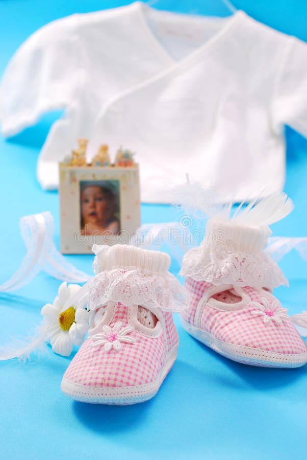 Baby shoes for girl stock images