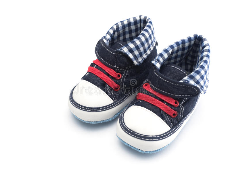Baby shoes isolated royalty free stock photography