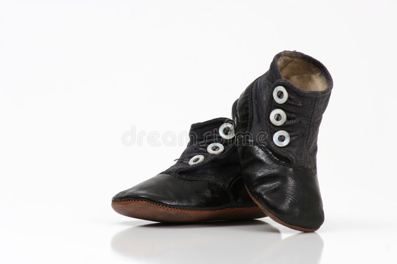 Download Baby Shoes IV stock photo. Image of buttons, pair, black - 84126