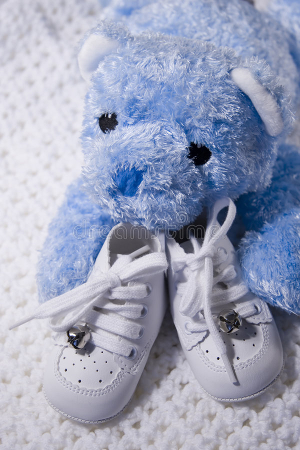 Download Baby Shoes and Teddy stock photo. Image of motherly, foot - 221082