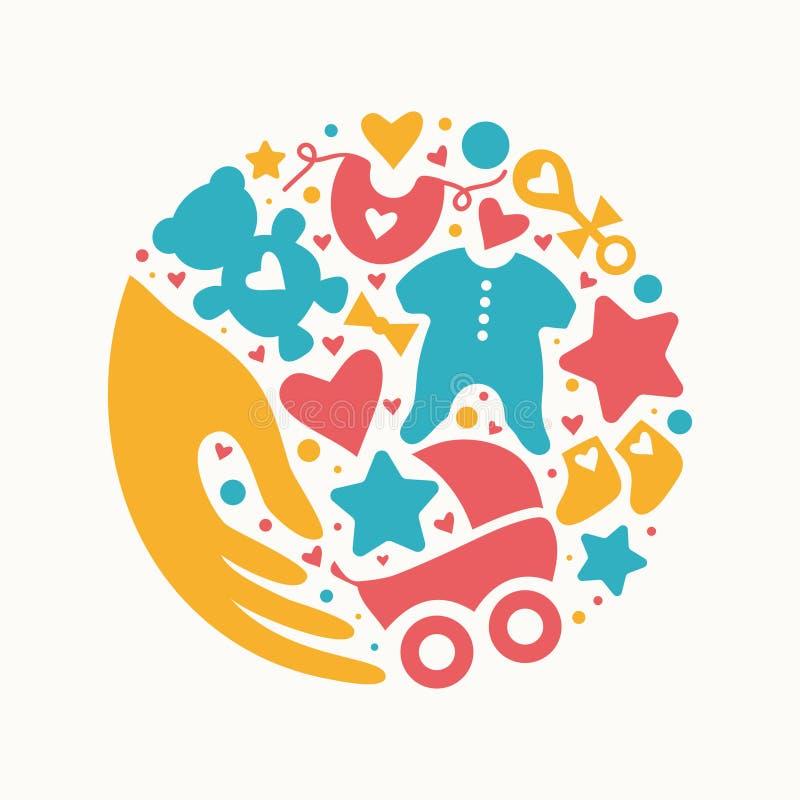 Baby shop vector illustration