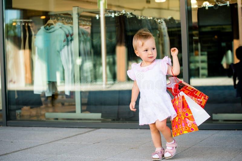 Baby shopping royalty free stock photos