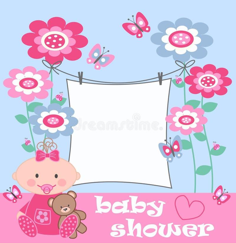 Baby shower vector illustration