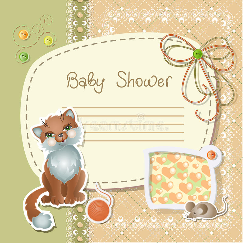 Download Baby shower stock vector. Image of lovely, love, label - 24608125