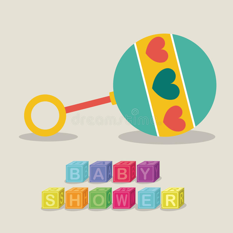 Baby shower stock illustrationer
