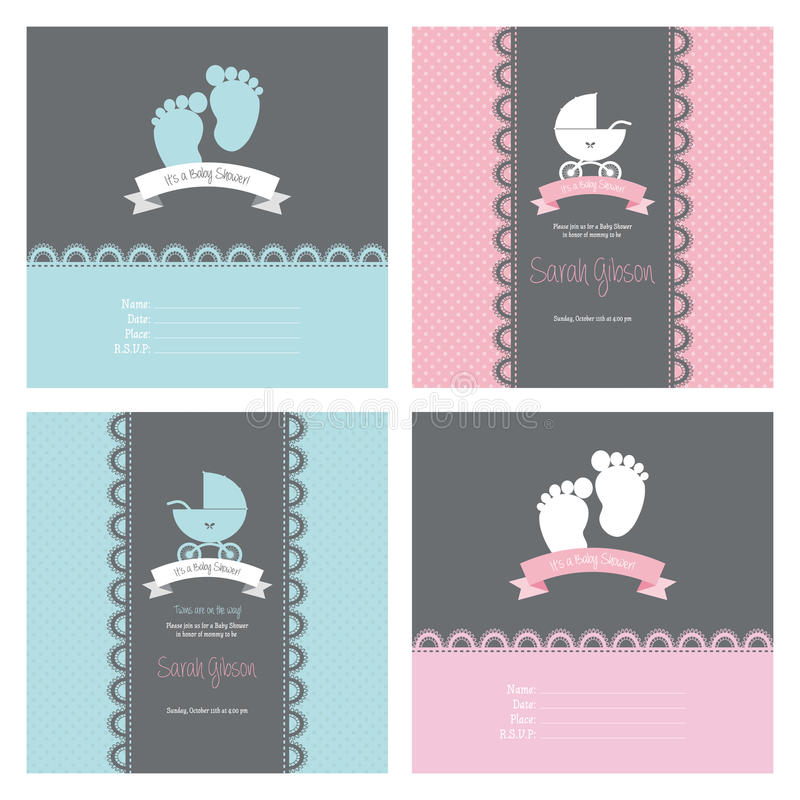 Baby Shower. Abstract baby shower background with some special objects royalty free illustration