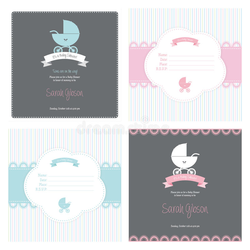 Baby Shower. Abstract baby shower background with some special objects vector illustration
