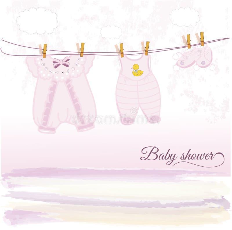Baby shower announcement vector illustration