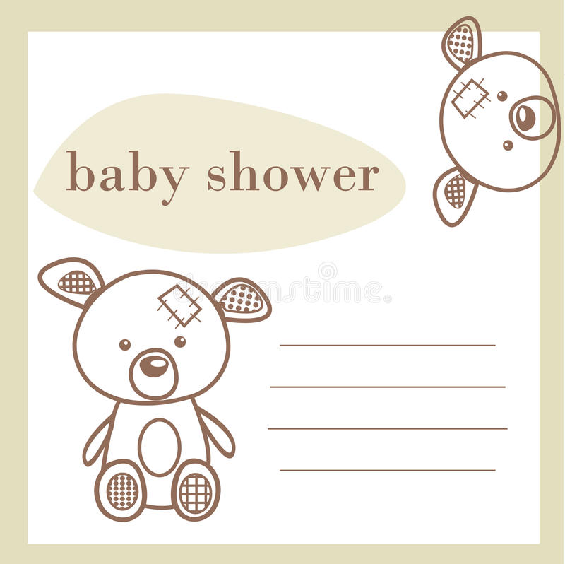 Baby shower announcement card stock illustration