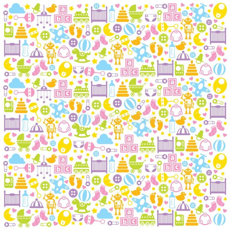 Baby Shower Background vector illustration