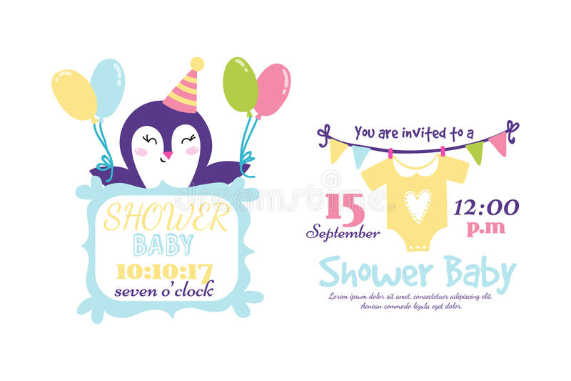 Download Baby Shower Badge Happy Mothers Day Insignias Penguin Sticker  Stamp Icon Frame And Card Design