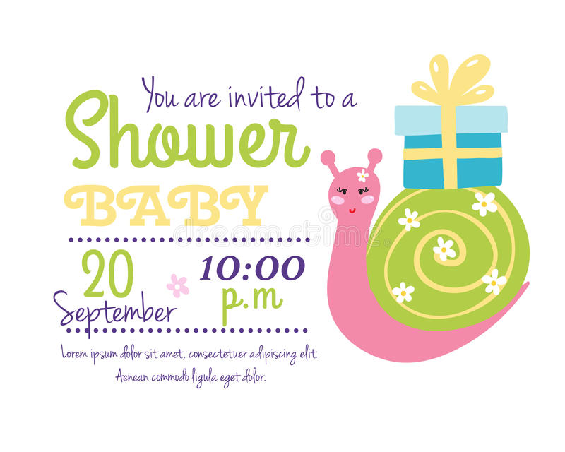 Baby shower badge happy mothers day insignias snail sticker stamp icon frame and gift box card design doodle vintage. Baby shower badge happy mothers day royalty free illustration