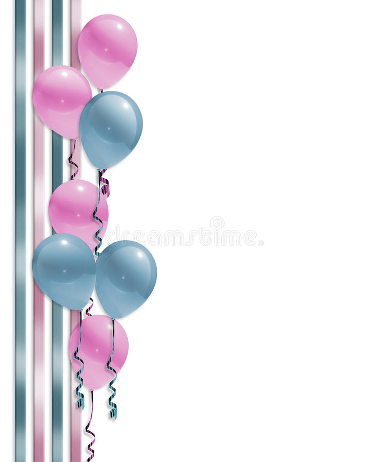 Download Baby Shower Balloons Border Stock Illustration - Illustration: 13015609
