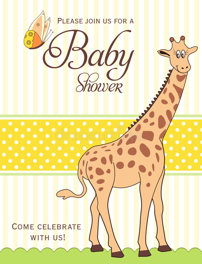 Baby shower card royalty free illustration