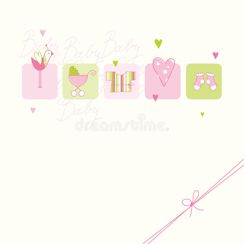 Download Baby shower card stock vector. Illustration of decorative - 21447857