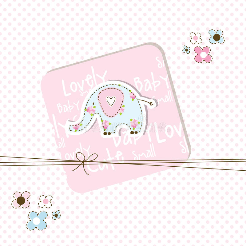 Download Baby shower card stock vector. Image of buggy, decorative - 21447896