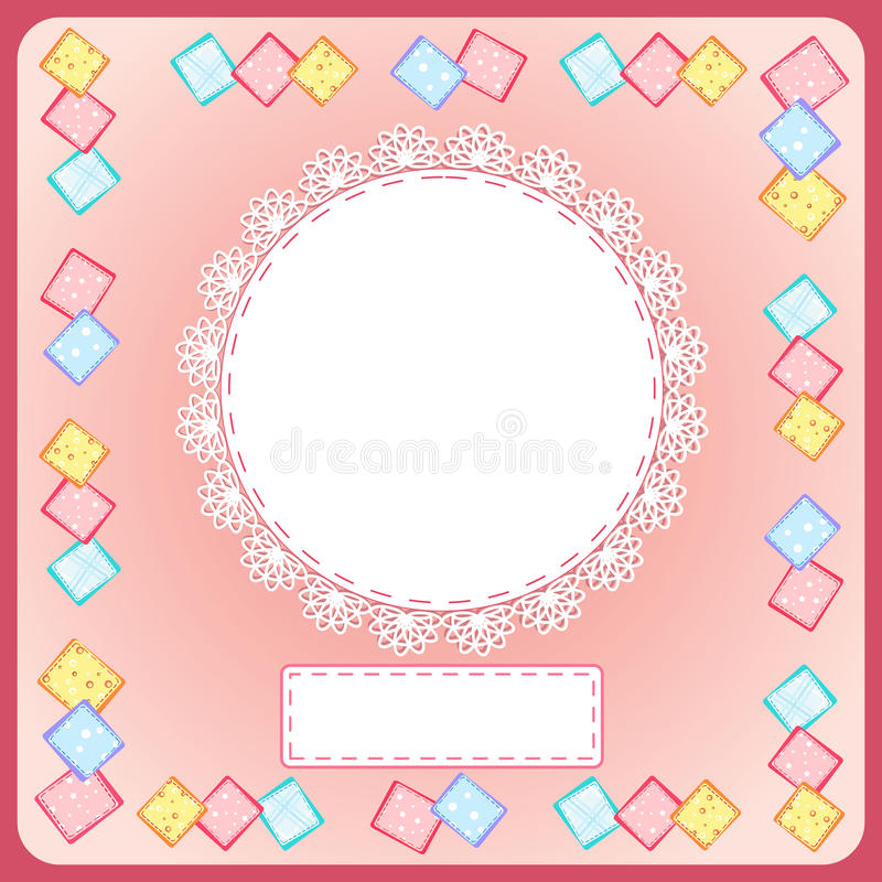 Download Baby Shower card. stock vector. Image of clip, newborn - 24894182