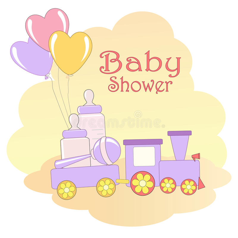 Download Baby Shower card. stock vector. Image of event, illustration - 24894278